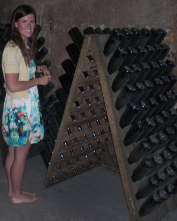In the Champagne cellars