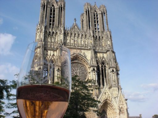 Champagne at Reims Cathedral