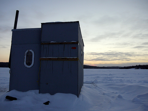 Ice fishing in Ontario