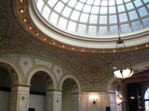 Chicago Cultural Center mosaic Tiffany dome