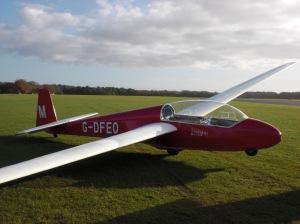 Glider at Lasham Gliding Society