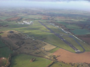 Soaring over the Lasham Gliding airfield