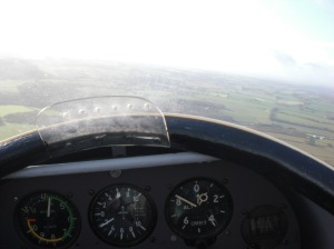 Control panel on the glider