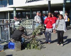 Bushman tourist attraction in Fisherman's Wharf San Francisco