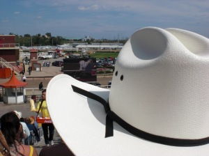 Cowboy hat at the rodeo