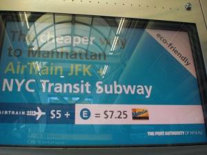 Getting from JFK to Manhattan