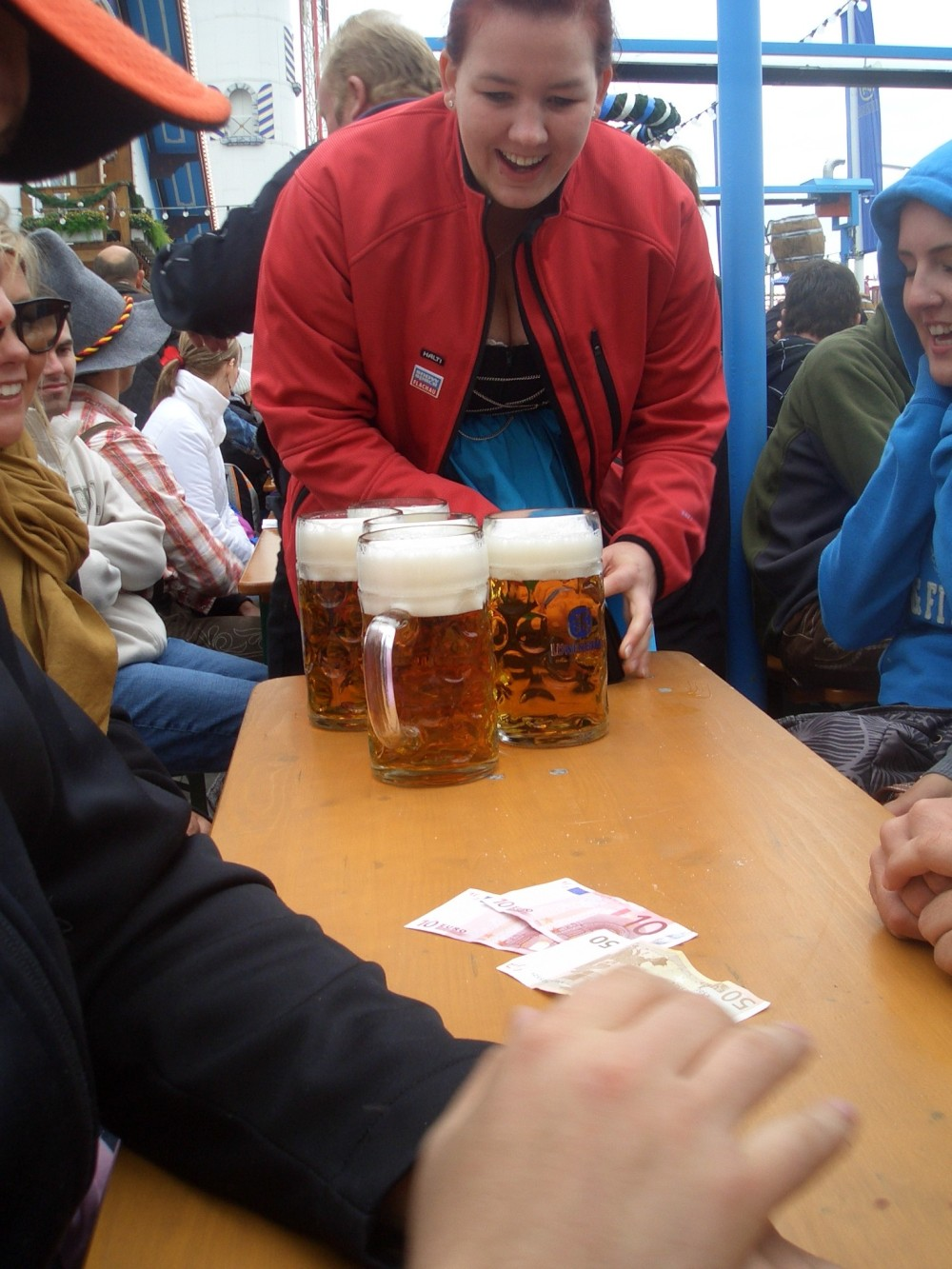 Bring cash to your beer frau at Oktoberfest