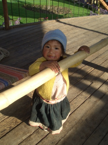 Little girl in Peru