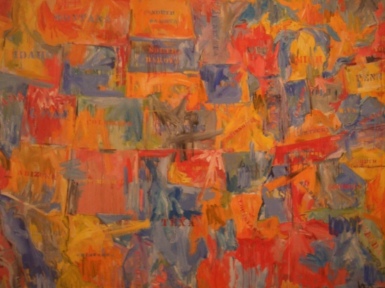 Map, the painting by Jasper Johns at the MoMA, New York