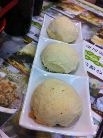 Pork Buns at Dim Sum at Tim Ho Wan, Kowloon, Hong Kong
