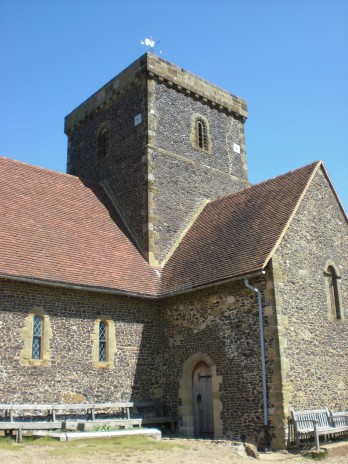 Little stone church in Surrey