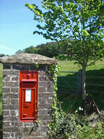 Old English postbox