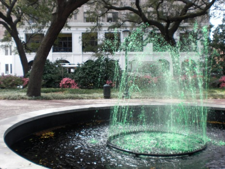 Green Fountain in Savannah