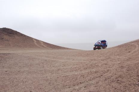 Peruvian desert in a dune buggy