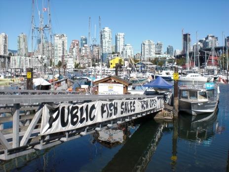 Fish sales at Granville Island Vancouver