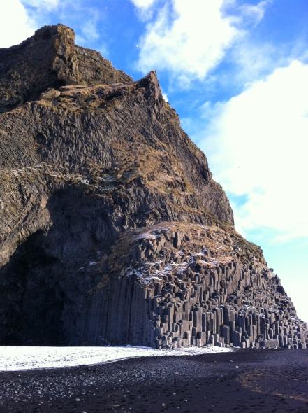 Black volcanic ash beach Reynisfjara Iceland