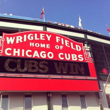 cubs win wrigley field